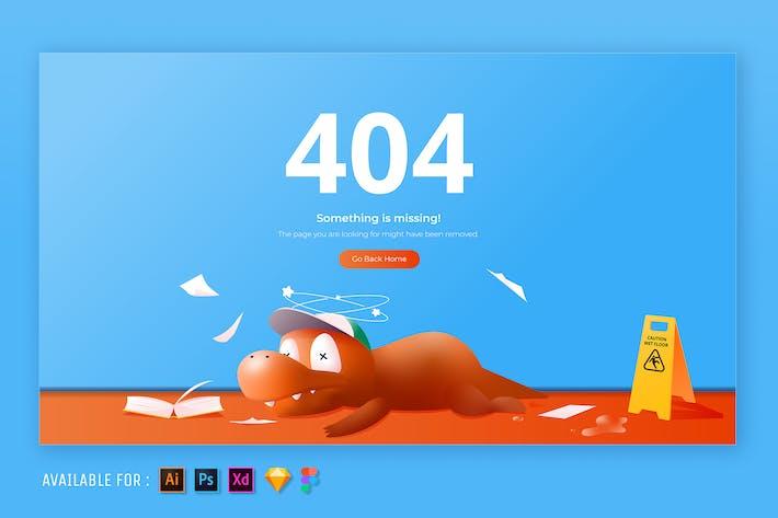 Thumbnail for 404 Seite - Web-Illustration
