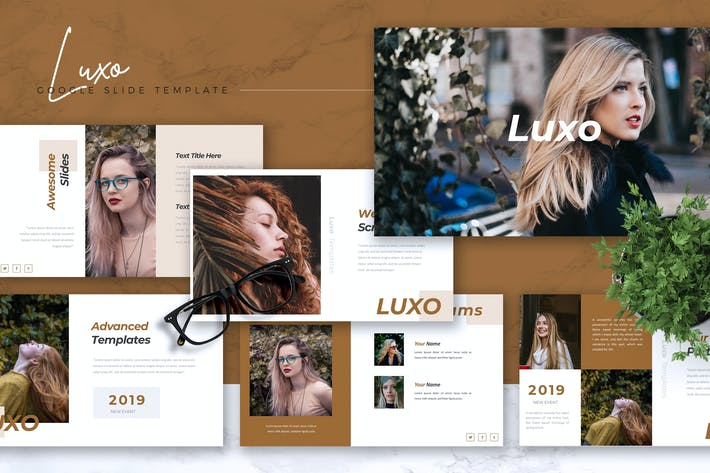 Thumbnail for LUXO - Company Profile Google Slides Template