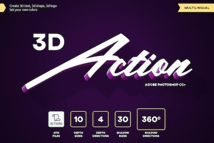 3D Text - Photoshop Action vol 2