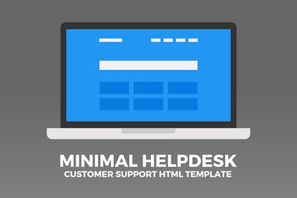 Minimal Helpdesk   Customer Support HTML Template