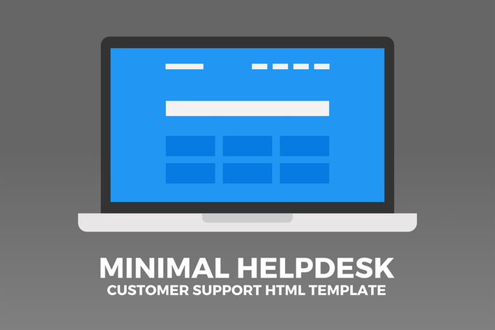 Thumbnail for Minimal Helpdesk | Customer Support HTML Template