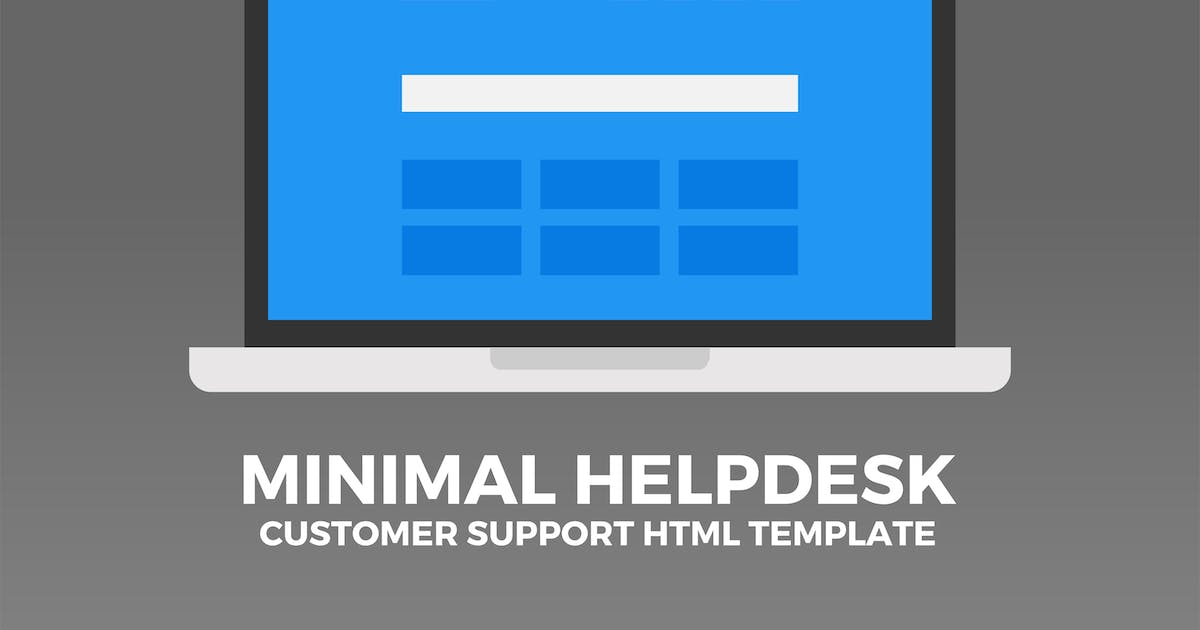 Download Minimal Helpdesk | Customer Support HTML Template by PressApps