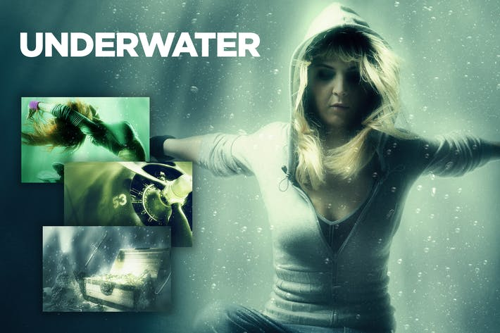 Thumbnail for Underwater Photoshop Action CS3+