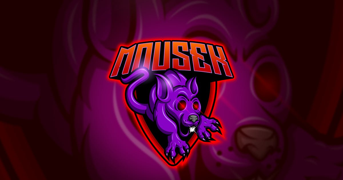 Download Mouse - Mascot & Esport Logo by aqrstudio