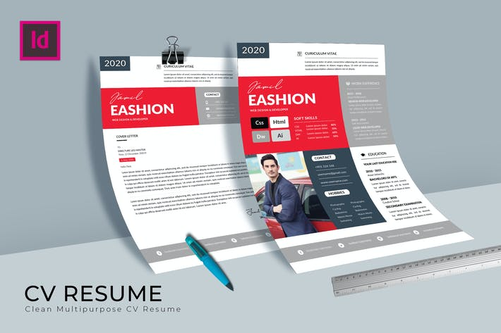 Thumbnail for Civitas CV Resume Template