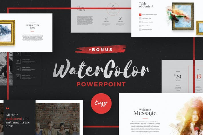 Thumbnail for WaterColor - Powerpoint Template