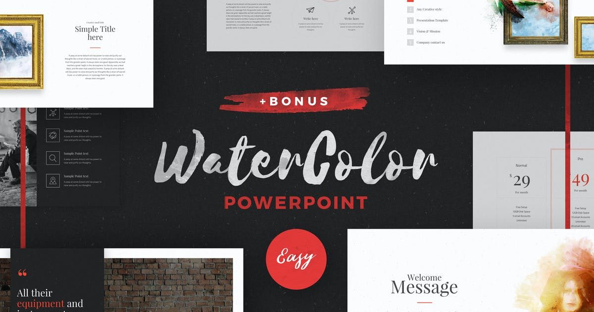 Download WaterColor - Powerpoint Template by ShapeSlide