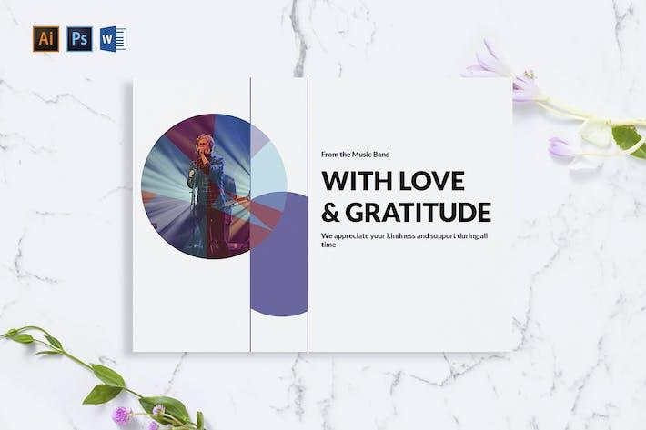 Thumbnail for Music Band Greeting Card