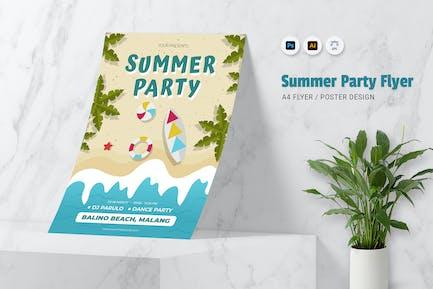 Summer Sea Party Flyer