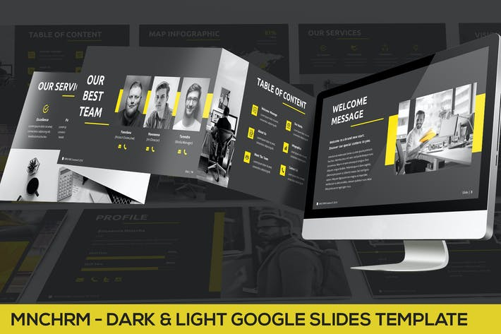 Thumbnail for Mnchrm - Dark & Light Google Slides Template