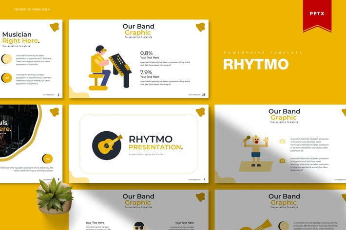 Thumbnail for Rhytmo | Powerpoint Template