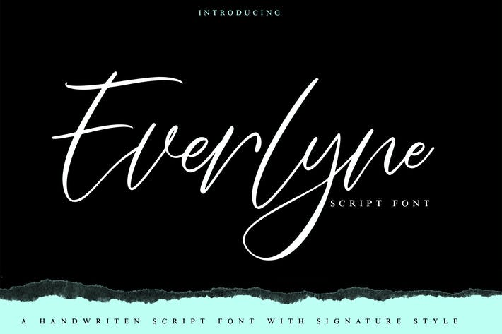 Thumbnail for Everlyne   Handwriten Script Font