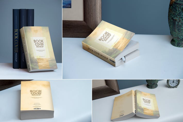 Thumbnail for Softcover Book Mockups Template