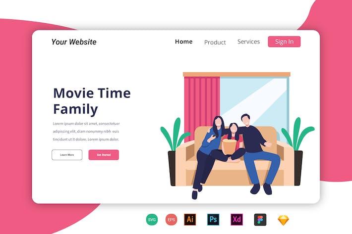 Thumbnail for Page d'accueil de la famille Movie Time