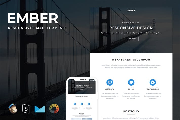 Cover Image For Ember - Responsive Email + StampReady Builder