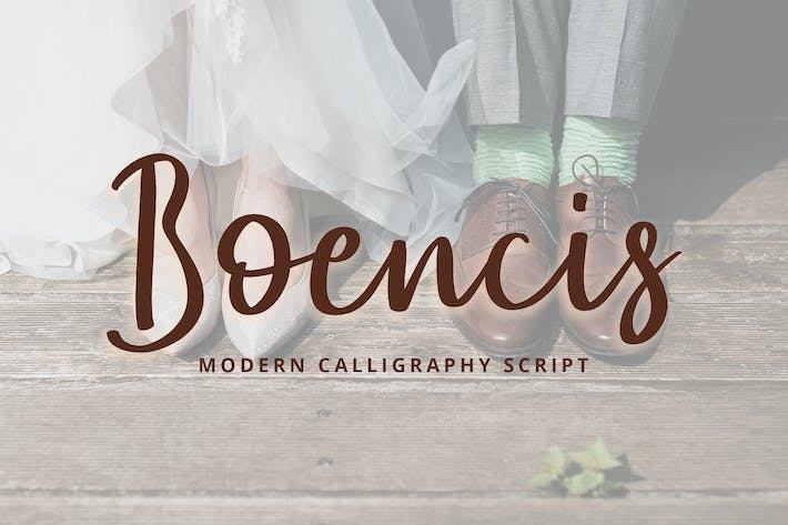 Thumbnail for Boencis Modern Caligraphy Script Font