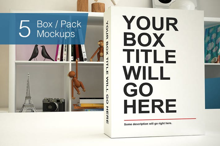 Thumbnail for Box / Pack Mockups - 5 poses