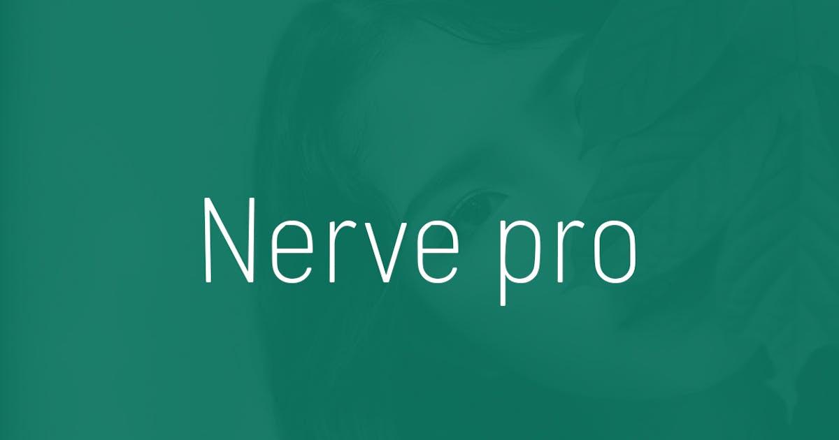 Download Nerve pro - Typeface + Web Fonts by webhance