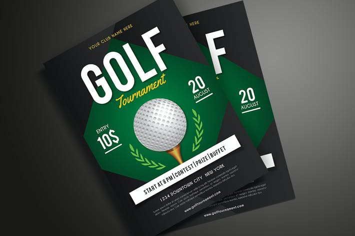 Cover Image For Golf Flyer