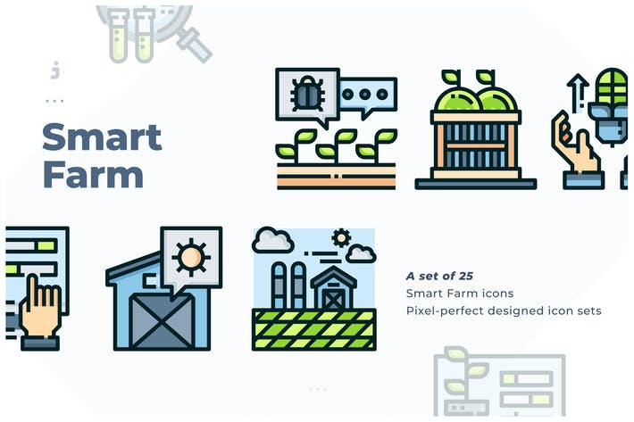 25 Smart Farm Icon Set
