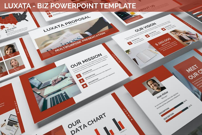 Thumbnail for Luxata - Biz Powerpoint Presentation Template