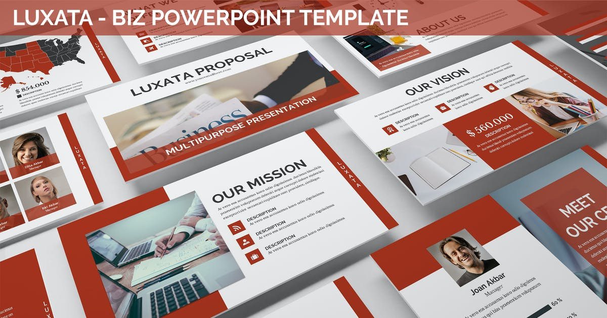 Download Luxata - Biz Powerpoint Presentation Template by SlideFactory