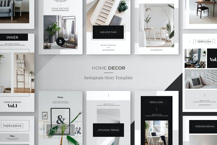 Minimal Home Decor Instagram Story Tempalte