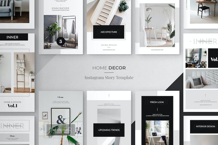 Thumbnail for Minimal Home Decor Instagram Story Tempalte