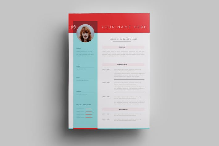 Thumbnail for Resume Design Templates.11