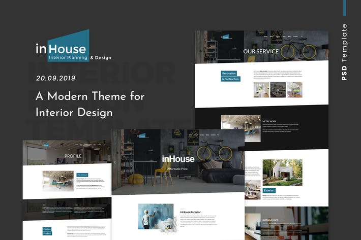Thumbnail for Inhouse | Modern Design Interior PSD Template