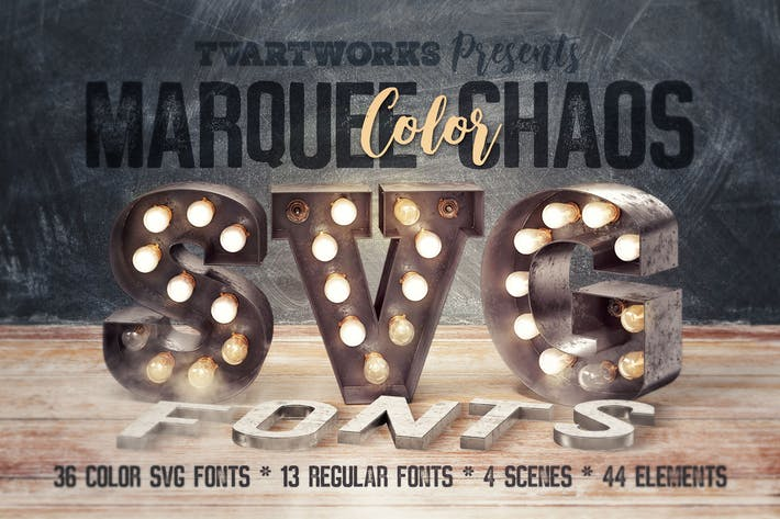 Thumbnail for Marquee Chaos View - Color Fonts