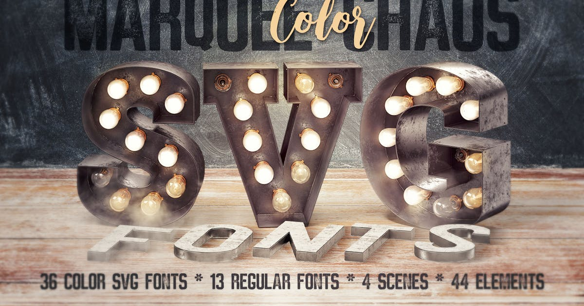 Download Marquee Chaos View - Color Fonts by cruzine