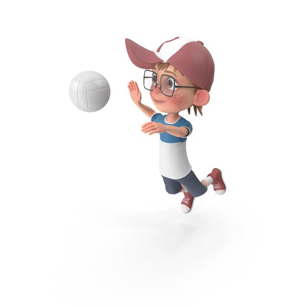 Thumbnail for Cartoon Boy Harry Playing Volleyball
