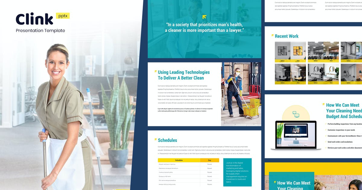Download Clink - Cleaning Service Powerpoint Template by Slidehack