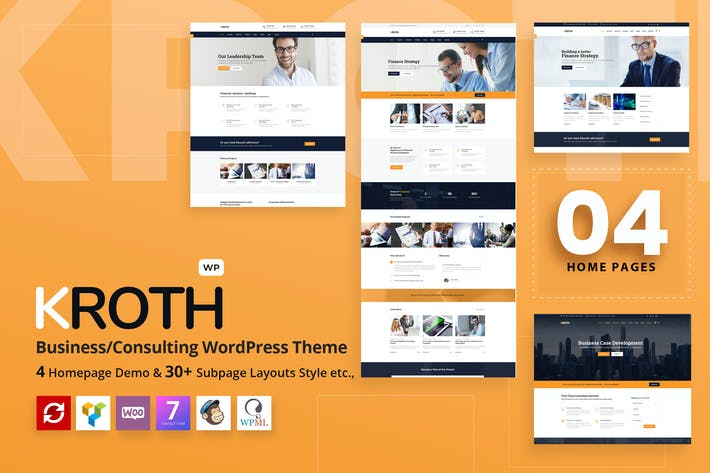 Thumbnail for Kroth - Business/Consulting WordPress Theme