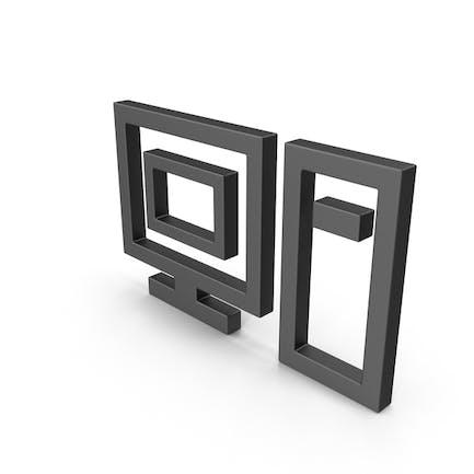 Symbol Computer Black