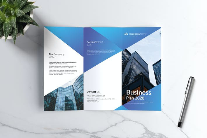 Cover Image For Business Trifold Brochure