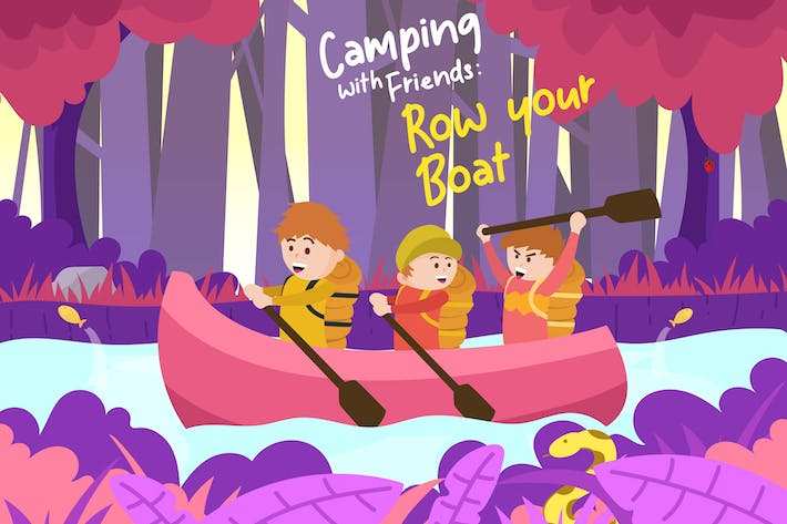 Thumbnail for Row your boat - Vector Illustration