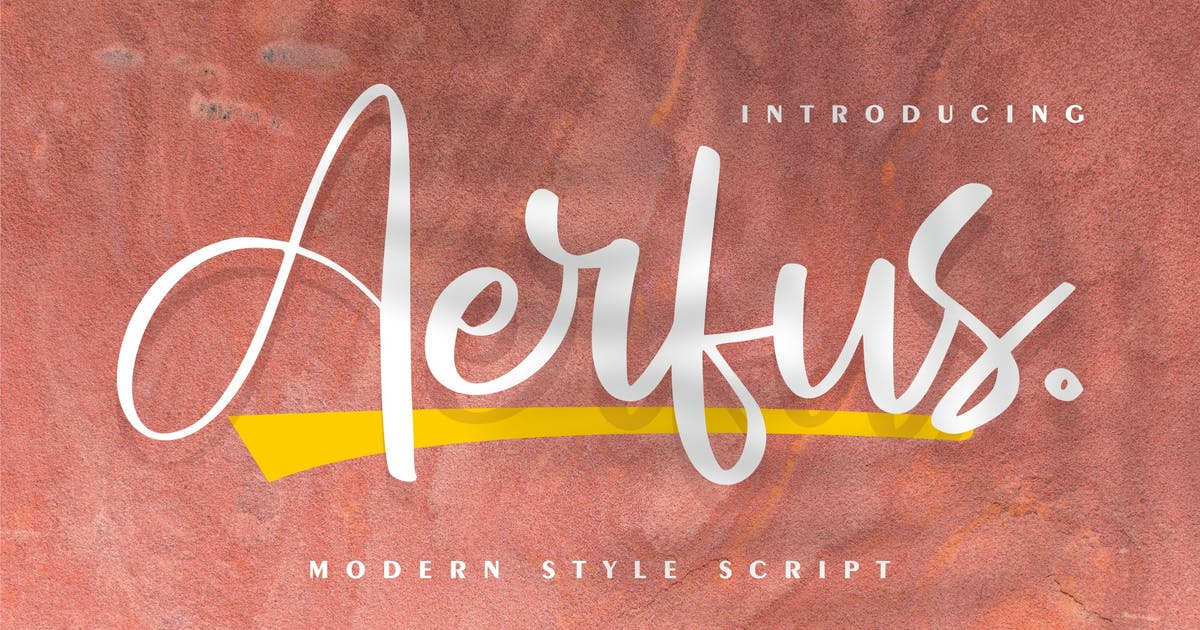 Download Aerfus | Modern Style Script by Vunira