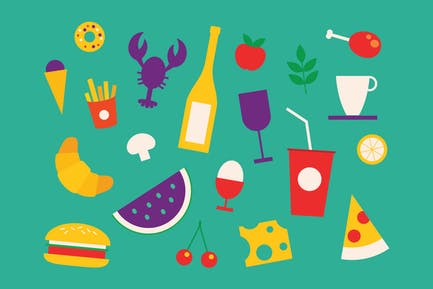 Food Cheerful Icons