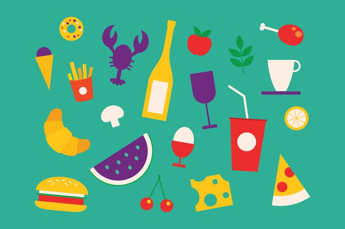 Thumbnail for Food Cheerful Icons