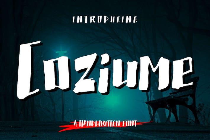 Thumbnail for Coziume - Creepy Handwritten Font