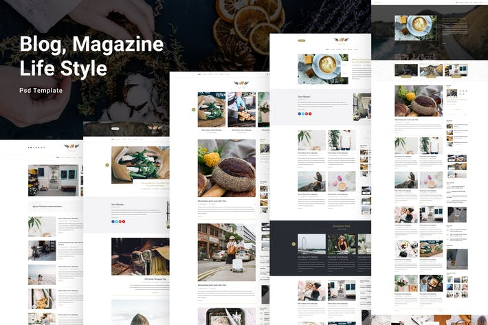 Thumbnail for Solo Life - Blog PSD Template