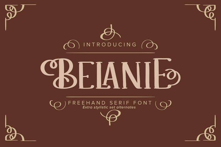 Thumbnail for Belanie | Freehand Serif Font