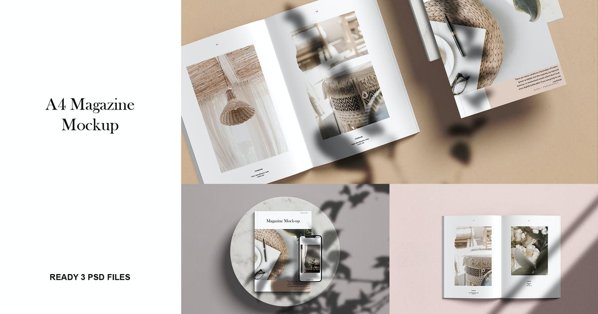 Download A4 Magazine Mockup kit by GraphicGata