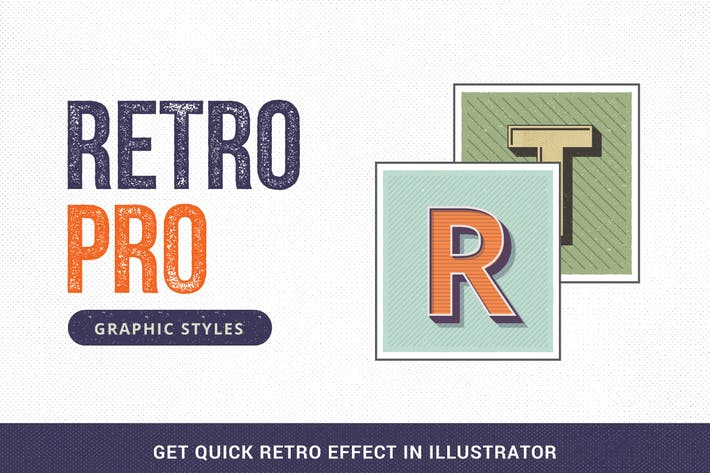 Thumbnail for RetroPro-Illustrator Graphic Styles