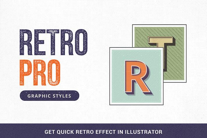 Thumbnail for Estilos gráficos RetroPRO-Illustrator