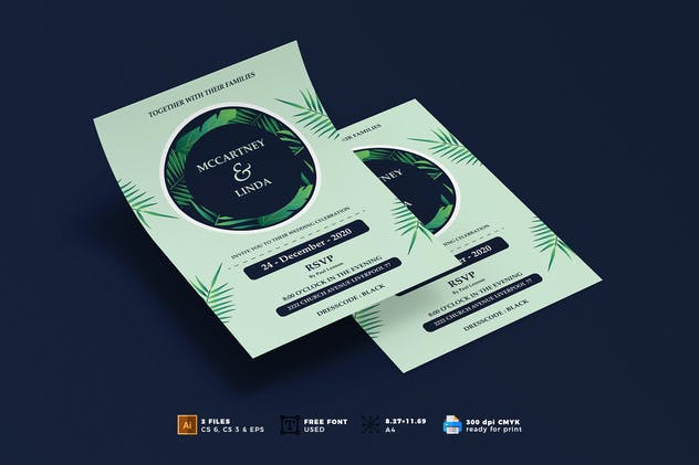 Wedding Invitation Flyer Template Vol. 03