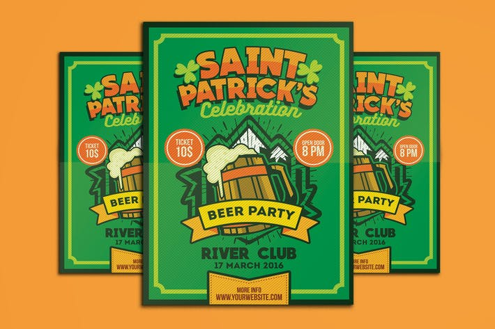Thumbnail for Saint Patrick's Beer Party Poster Flyer