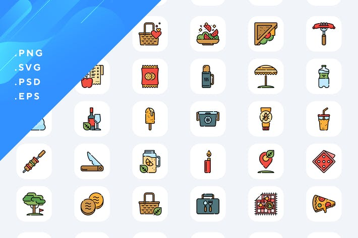 Thumbnail for 50 Picnic Icons